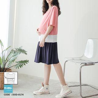 Cotton Maternity Nursing Dress DOD-0174