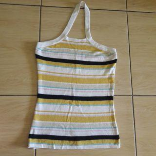 #MAUVIVO Preloved Tangtop Halter Neck Fit to L Mat Rajut Strecth