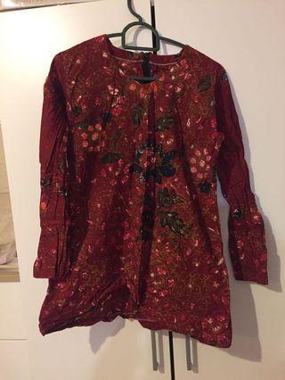 Batik blouse baju batik batik top