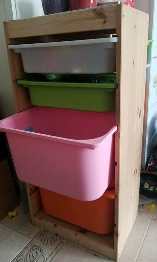 IKEA 實木玩具櫃 / 雜物櫃