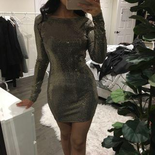 MENDOCINO metallic dress