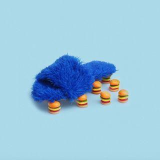 Sandy Cheeks Blue Furry Flats
