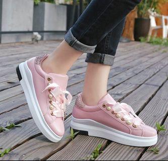 women shoes platform pearl lace shoes korean fashion lady shoes sneaker shoes