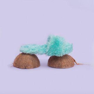 Sandy Cheeks Mint Furry Flats