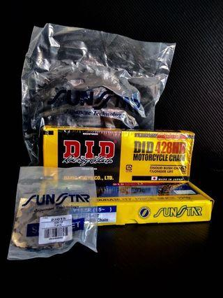 yamaha y15zr spocket set come with DID chain y15 enkei rapido