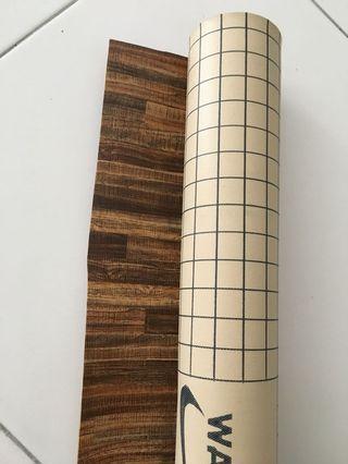 Tikar getah baru wooden design