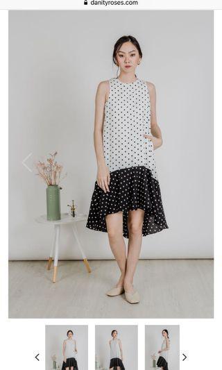 Danity Roses polka dot dress