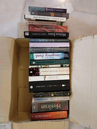 Bundle 20 books novels for sale
