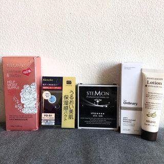 Brand new The Ordinary, Kanebo, Stemcin lotion, facial spf stuff