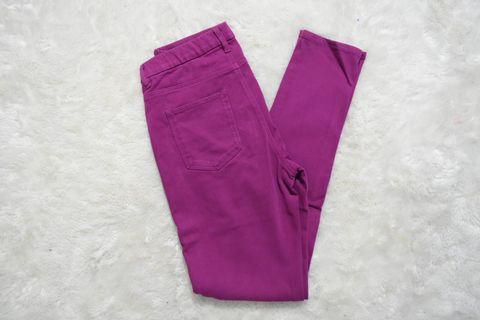 Celana Panjang Uniqlo Pink Fuschia