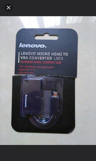 🚚 Micro hdmi to vga converter by lenovo
