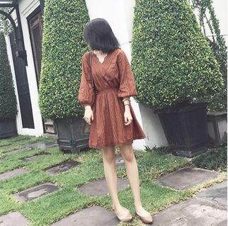 海边度假泰国巴厘岛蕾丝连衣裙 (Dress)