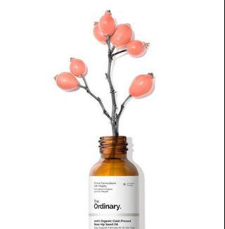 The Ordinary 100% Organic Cold-Pressed Rose Hip Seed Oil 100% 有機冷榨玫瑰果籽油