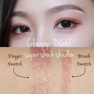 Colourpop DGAF súper shock shadow