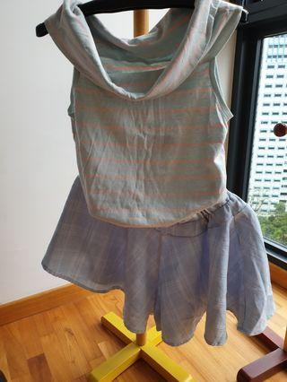 T-shirt & pant skirt