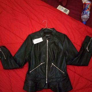 Jacket kulit guess wanita