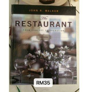 The Restaurant From Concept To Operation
