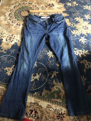 Low waist straight cut jeans