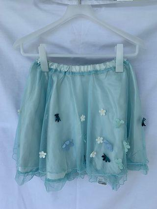 Brand new blue lace skirt