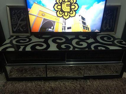 Glass TV Cabinet with Drawer