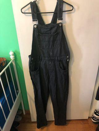 Black washed overall