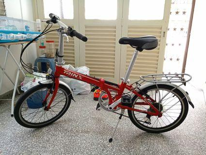 Foldable Bicycle with SHIMANO parts