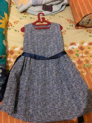 Grey embroidery dress