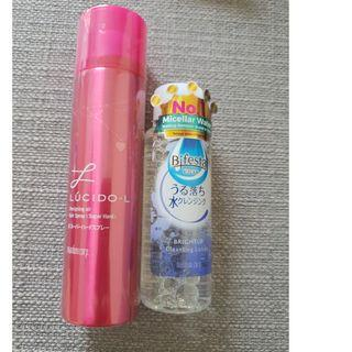Lucidol hair spray and Bifesta cleansing lotion