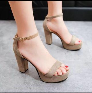 Khaki High Heels