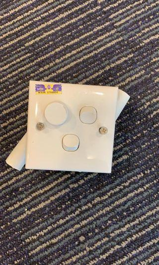 3x two way switch with dimmer