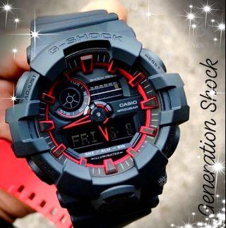 DEADPOOL🌟THEME in GSHOCK DIVER SPORTS WATCH : 1-YEAR OFFICIAL WARRANTY : 100% ORIGINAL AUTHENTIC G-SHOCK RESISTANT: Best For Most Rough Users & Unisex : GA-700SE-1A4 / GA700SE-1A4 / GA-700-1A / CASIO / GSHOCK / WATCH