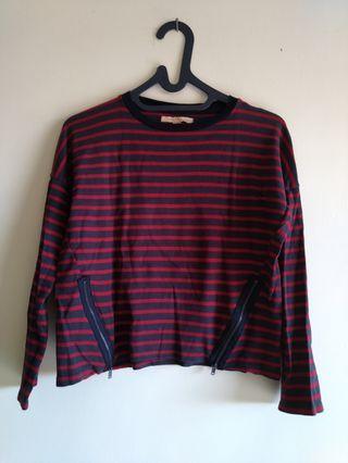 Zara Trafaluc Top Stripes Size S #MAUVIVO