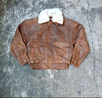 Jaket kulit size L