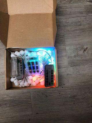 LED LIGHTS with remote ( 2pcs in a box )
