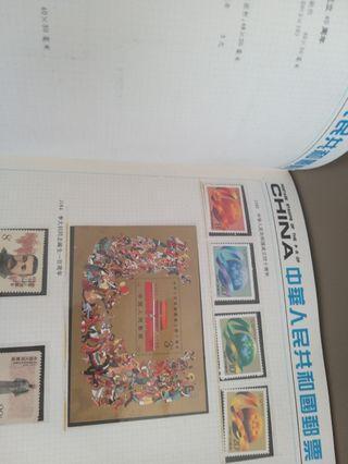 中國郵票冊五本 平售 保存好好