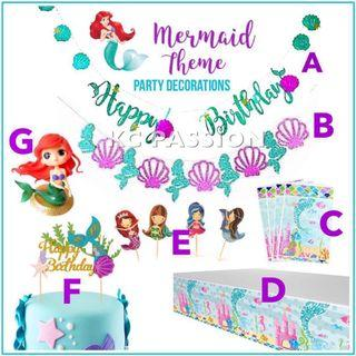 🎉 MERMAID THEME PARTY NEEDS n' DECORATION