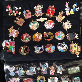 絕版珍藏 Disney pin 迪士尼襟章 pin trading Disneyland hidden Mickey 史迪仔 stitch Winnie chip dale Donald Duck