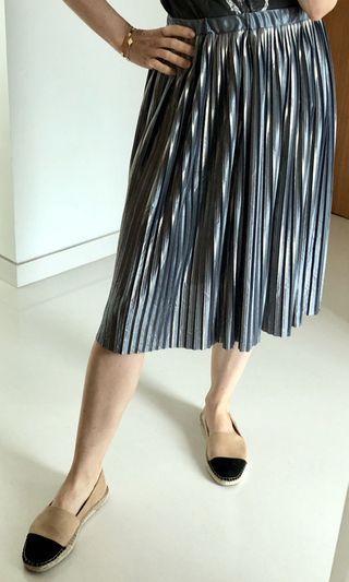 Zara Girl Blue Metallic Skirt