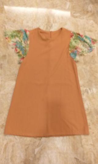 brown mididress #onlinesale