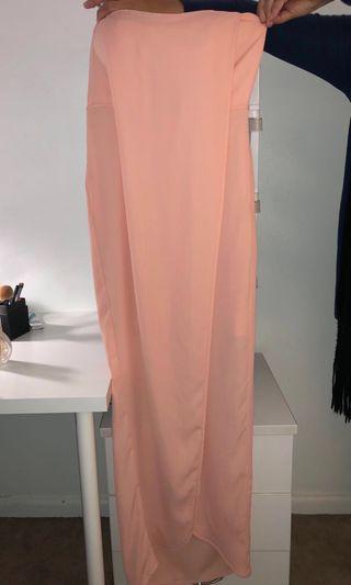Sheike Peach boob tube dress