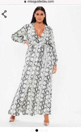 Sz 16 Snake Print dress