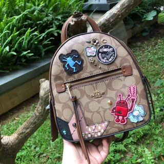 817be5dbdce9 COACH F48642 KEITH HARING ANDI BACKPACK IN SIGNATURE CANVAS WITH PATCHES, KHAKI  MULTI /IMITATION