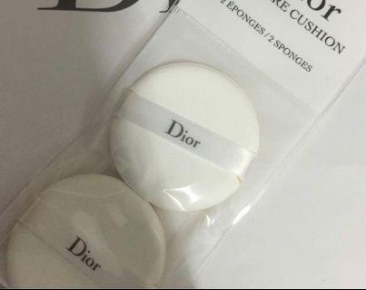 Dior 粉撲 x 2 new** sponges