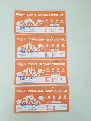 🚚 4 kidzania kids ticket