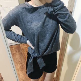 Grey-Blue Tie Sweater