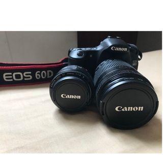 Combo of 3 : CANON EOS 60D with 2 LENS EF-S18-135mm and EF 50mm