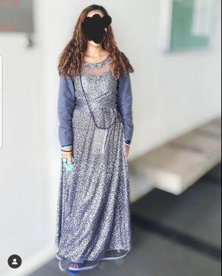 Grey Lengha Dress 2 piece