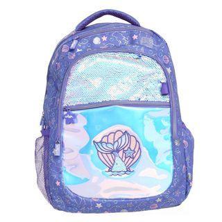 Dreamy Backpack with Glitzy Mirror Hardtop Pencil Case