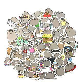 (Stickers) 100pc Pusheen