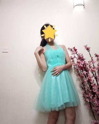 Fairytale Green Puffy Dress